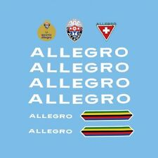 Allegro Bicycle Frame Decals - Transfers - Stickers n.102