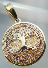 Pendant Celtic Tree of Life Amulet Jewelry Solid Gold 9 karat (375)*