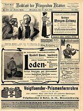Voigtlaender & Sohn Braunschweig Prismenfernrohr Emil Busch Rathenow Camera 1902