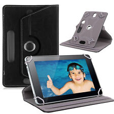 ROTATING 360° PU LEATHER FLIP STAND COVER for ★ Intex I-Buddy IN-7DD01 Tablet ★