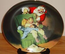 "Christmas Vigil Santa w/Sleeping Children Knowles 8.5"" collector's plate 1990"