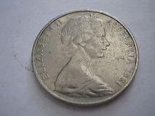 AUSTRALIA 1981 20 Cent Platypus WINNIPEG MINT, 3.5 Claws, KM 66 + 1974 4 Claws