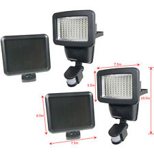 2 PACK 100 SMD LEDs Black Solar Powered Motion Sensor Security Light Flood 60 80