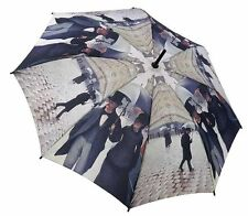 Galleria Caillebotte Paris Rainy Windproof Automatic Open Close Folding Umbrella