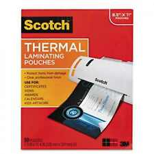 200 Pack - 3M SCOTCH THERMAL LAMINATOR LAMINATING FILM POUCHES LETTER SIZE 3mm