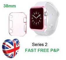 Pink Slim Thin Hard Snap On Case Cover for Series 2 Apple Watch iWatch 38MM