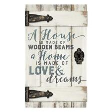 """A HOME IS MADE OF LOVE & DREAMS Barn Door Distressed Wood Sign 14"""" x 24"""""""