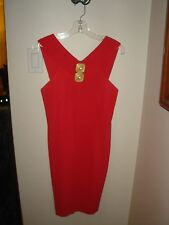 """Rare Vintage GILLIAN Coral """"Indecent Proposal"""" Style Dress Size 6 Worn 2x Lovely"""