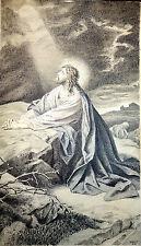 Tuschfederzeichnung,Betender Jesus am Ölberg,Schweyer,1910, Sehr gute Arbeit !!