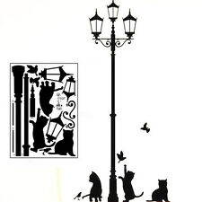 Removable Lamp Cat Wall Stickers Decal for Home Stairs Sticker Decals