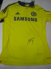 DIDIER DROGBA HAND SIGNED CHELSEA YELLOW JERSEY UNFRAMED + PHOTO PROOF + C.O.A