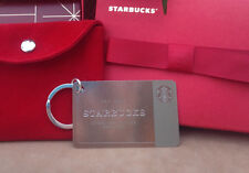 New Unused Limited Edition STARBUCKS Sterling Silver Key Chain Gift Card w/ $50