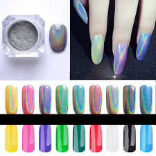 Colorful Chrome Metallic Mirror Dust Effect Glitter Magic Shiny Nail Arts Powder