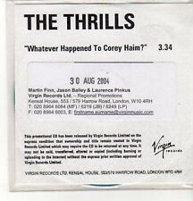 (CZ879) The Thrills, Whatever Happened to Corey Haim? - 2004 DJ CD