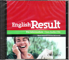 Oxford ENGLISH RESULT PRE-INTERMEDIATE Class Audio CDs (2) @NEW Sealed@