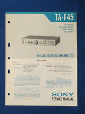 SONY TA-F45 INTEGRATED AMP SERVICE MANUAL ORIGINAL FACTORY ISSUE GOOD COND