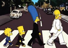 THE SIMPSONS BEATLES A3 POSTER PRINT YF571