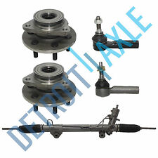 5 Set:Complete Rack and Pinion + 2 Outer Tie Rods + 2 Front Wheel Bearing 4x4