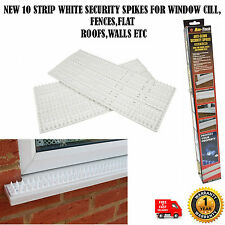 10 PC WHITE ANTI CLIMB SECURITY DETTERENT SPIKES FOR WINDOW CILLS FENCES