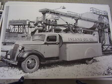 1937 CHEVROLET  OIL TANKER TRUCK   12 X 18  LARGE PICTURE  PHOTO