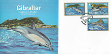 Gibraltar 2014 FDC Dolphins of Gibraltar 3v Set Cover Bottlenose Striped Dolphin
