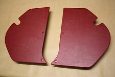 For Holden HD-HR kick panels L & R. Red vinyl. NEW. Incl trim clips.