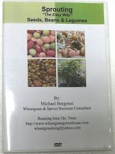 """""""Sprouting The Easy Way"""" DVD by Michael Bergonzi~Seeds, Beans & Legumes"""