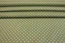 100% COTTON PRINT FABRIC - 3mm WHITE POLKA DOTS (PIN SPOTS) ON VARIOUS COLOURS