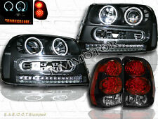 02-09 CHEVY TRAILBLAZER CCFL HALO PROJECTOR LED HEADLIGHTS + LED TAIL LIGHTS