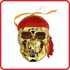 GOLD / GOLDEN PIRATES HAUNTED GHOST SKELETON SKULL MASK -COSTUME-PARTY-HALLOWEEN