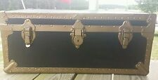 VTG. Military ArmyTrunk Foot Locker with Storage tray inside. Kleber  Trunk