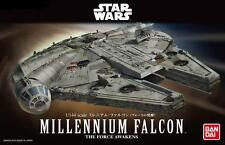 BANDAI STAR WARS THE FORCE AWAKENS MILLENNIUM FALCON 1/144 MODEL KIT NUOVO NEW