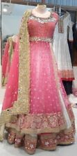 Pink bridal lehenga lengha ghagra sari saree India wedding choli