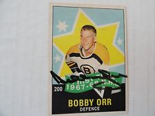 Bobby Orr 1968/69 OPC Autographed All Star Card  Boston Bruins  NEAR MINT/MINT!