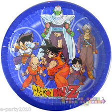 DRAGON BALL Z LARGE PAPER PLATES (8) ~ Birthday Party Supplies Dinner Luncheon