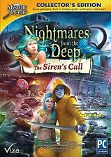 NIGHTMARES FROM THE DEEP The SIREN'S CALL Hidden Object PC Game Viva Media NEW