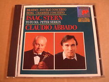 CD SONY CLASSICAL / BRAHMS & BERG - CONCERTOS / ISAAC STERN - CLAUDIO ABBADO