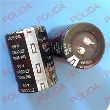 1PC AUDIO Electrolytic Capacitor PANASONIC(size)35*50mm 10000UF80V/80V10000UF