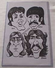 The Beatles Caricature Artwork Print 11 X 17  Poster & Sleeve Paul McCartney