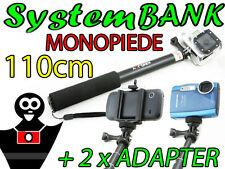 MONOPIEDE MONOPOD TREPPIEDE 110cm Il manico per GoPro Go Pro HERO 4 3+ + 3 2 1