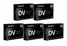 5 Sony Pro GR Mini DV camcorder video tape for JVC DVL980U DVM5U DVM55U DVM70U