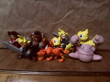 Final Fantasy VII 1997 Keychain Figure Lot Anime Cloud Chocobo Aerith Barret Red