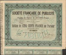 RARE =  Société Française de PUBLICITÉ 1881 (R)