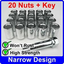 20 x SLIM THIN NARROW TUNER NUTS FOR FORDS WITH AFTER-MARKET ALLOY WHEELS [TN5]