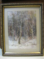 Vintage Russian Painting Watercolor Landscape Signed Lavrov Listed 1964