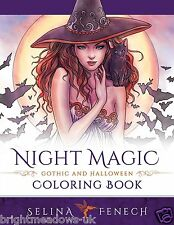 Night Magic Halloween Fantasy Witches Vampires Magical Adult Colouring Book