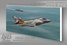 809 Naval Air Squadron Lockheed/Martin F35-B Lightning II Digital Art Canvas