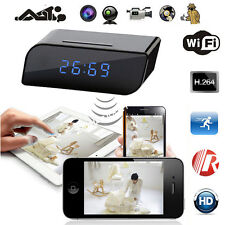HD 720P Wireless Wifi IP Spy Hidden Camera Motion Security Alarm Clock IR DV Cam