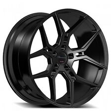 "Set4 22"" Staggered Giovanna Wheels Haleb Black Rims"