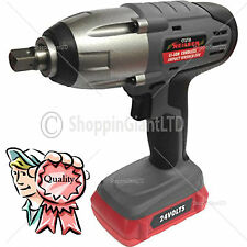 "24v Li-Ion Cordless Impact Wrench Gun ½"" Drive 2 Lithium Batteries"
